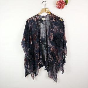 [LOFT] Velvet Open Kimono Cardigan